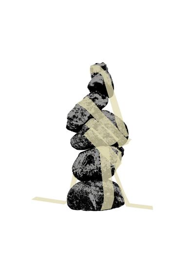 Siebdruck Steine